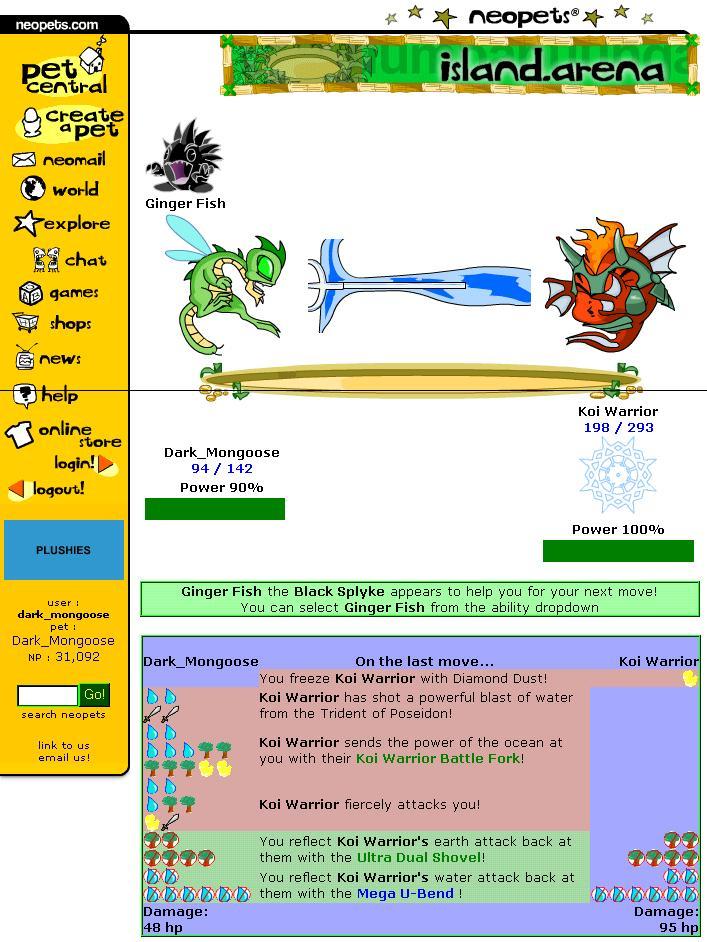 Neopets battledome screenshot